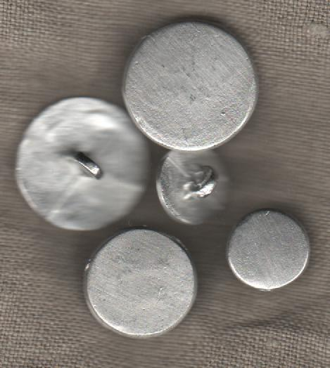 Pewter buttons for 18th century reenactors.