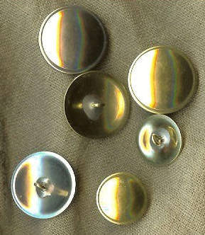 Brass buttons for 18th century reenactors.