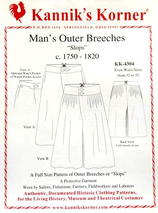 18th And Early 19th Century Men S Sewing Patterns