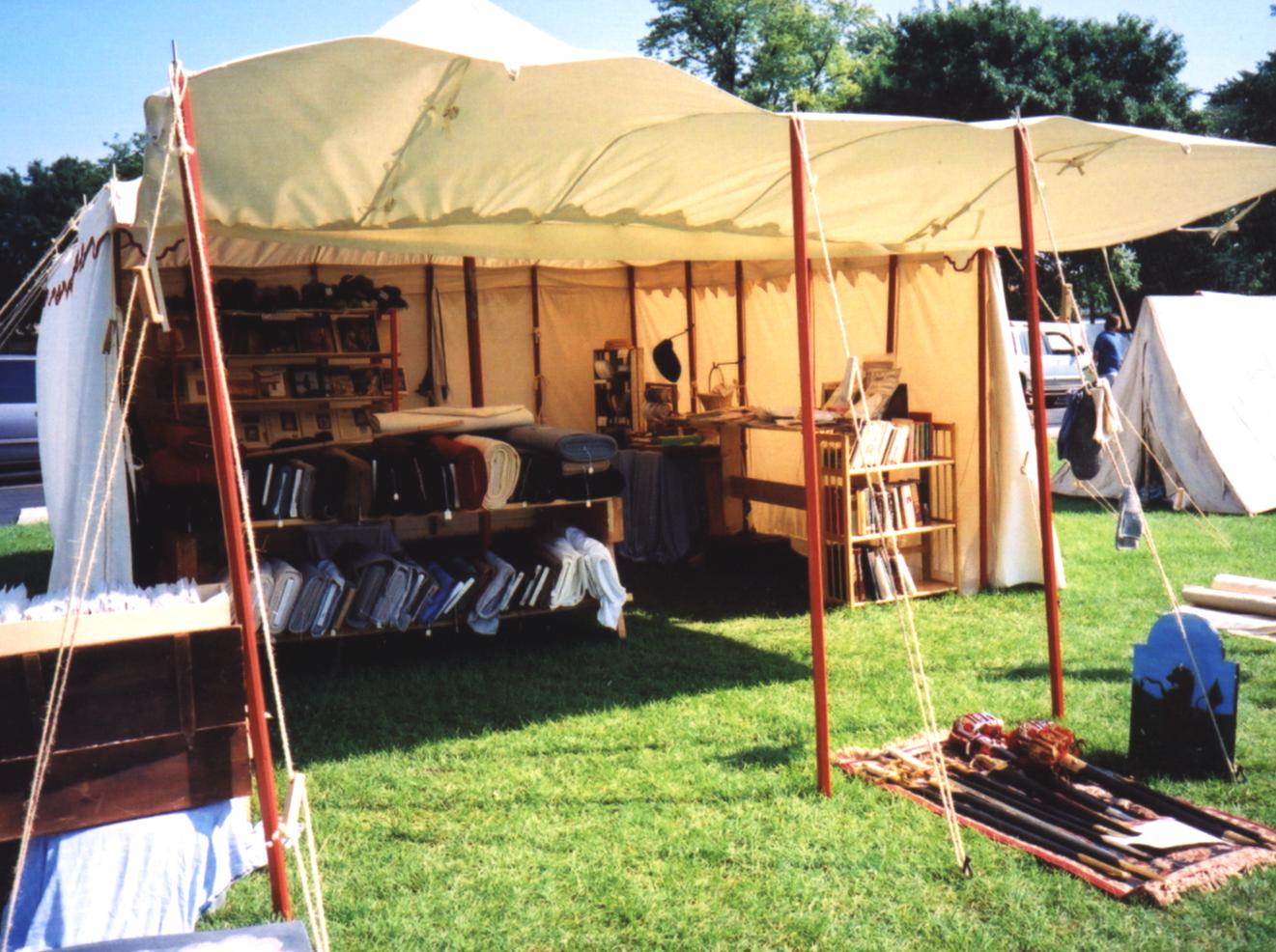 Merchant's tent as our shop often appears in the field.